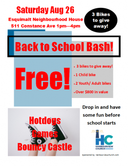 Harbourview Church Back to School Bash Esquimalt