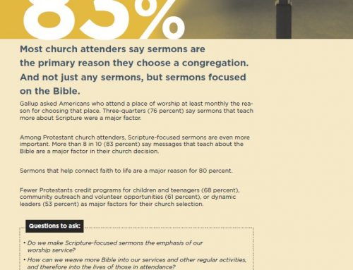 Most church attenders say it is about sermons on the Bible